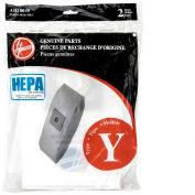 Hoover® Type Y HEPA Bag for U5140900, U6485900, CH53005, C1703-900 Vacs, 2/Pk - AH10040 - Pkg Qty 12