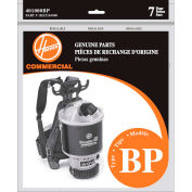 Hoover® Standard Type B Paper Bag for C2401, C2401-010 Backpack Vac, 7/Pack - 401000BP - Pkg Qty 12