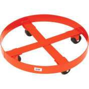 """Modern Equipment MECO 436R Round Drum Dolly for 55 Gal. Drums 3"""" Polyolefin 900 Lb."""
