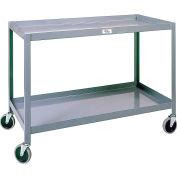 Modern Equipment MECO WSC1836-2 Welded 2 Shelf Service Cart 18x36 Rubber 500 Lb.