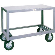 Modern Equipment MECO 6MS243-1 Mobile Steel Table 1 Shelf 24x36 Polyolefin 3000 Lb.
