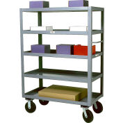 Modern Equipment MECO SC2448-5 Five Shelf Service Cart 24x48 Rubber 800 Lb.