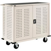 Global Industrial™ Mobile Storage & Charging Cart for 75 iPads & Tablets, Putty, Assembled