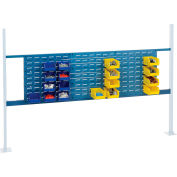 "Global Industrial™ Panel Kit for 72""W Workbench - 18""W and 36""W Louvers, Mounting Rail Blue"