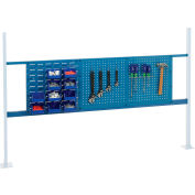 "Global Industrial™ Panel Kit for 72""W Workbench - 18""W Louver & 36""W Pegboard, Mounting Rail BL"