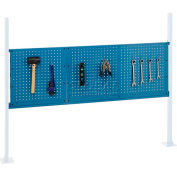 """Global Industrial™ Panel Kit for 60""""W Workbench - 18""""W and 36""""W Pegboards, Mounting Rail -Blue"""