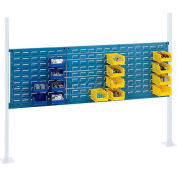 "Global Industrial™ Panel Kit for 60""W Workbench - 18""W and 36""W Louvers, Mounting Rail Blue"
