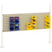 """Global Industrial™ Panel Kit for 60""""W Workbench with 18""""W and 36""""W Louvers, Mounting Rail -Tan"""