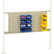 """Global Industrial™ Panel Kit for 48""""W Workbench with 36""""W Louver, Mounting Rail for-Tan"""