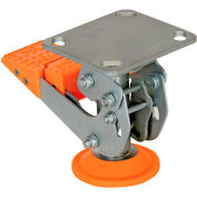 "Vestil Floor Lock with Polyurethane Foot Pad FL-LKH-5 for 5"" Casters"