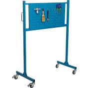 "Global Industrial™ Mobile Pegboard Panel Rack, 48""W, Blue"