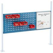"Global Industrial™ Panel Kit for 60""W Workbench 18""W Whiteboard & 36""W Louver, Mounting Rail BL"