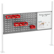 "Panel Kit for 60""W Workbench with 18""W Whiteboard and 36""W Louver, Mounting Rail - Gray"