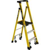 Werner 3' Type 1AA Fiberglass Podium Ladder W/ Casters 375 lb. Cap - PD7303-4C