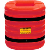 """Eagle Column Protector, 8"""" Column Opening, 24"""" High, Red, 1724-8-RED"""
