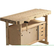 """Sjobergs SJO-66822K 61""""W x 22""""D Workbench Cabinet"""