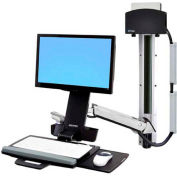 Ergotron® StyleView Sit-Stand Combo System w/ CPU Holder