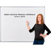 Melamine Dry Erase Whiteboard - 72 x 48 - Double Sided