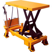 Wesco® Battery Powered Lift Scissor Lift Table 273712 1650 Lb. Capacity