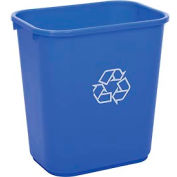 Global™ 28-1/8 Qt. Plastic Recycling Wastebasket - Blue