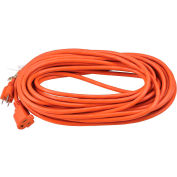 Global Industrial™ 50 Ft. Outdoor Extension Cord, 16/3 Ga, 13A, Orange