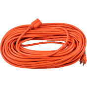 Global Industrial™ 100 Ft. Outdoor Extension Cord, 16/3 Ga, 10A, Orange
