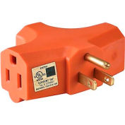 Global 3 outlet Wall Adapter, Orange, UL/CUL