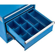 "Divider Kit for 10""H Drawer of Paramount™ Modular Drawer Cabinet, 3 Long and 6 Short , Blue"
