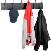 Wall Mounted Coat Rack - Black