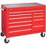 Proto® J455041-10RD-PD 10-Drawer Heavy Duty Rolling Cabinet Series 450 - Red