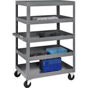 Multi-Level Steel Shelf Truck with 5 Shelves 36 x 24 800 Lb. Capacity