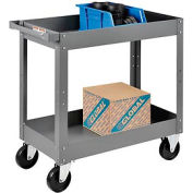 2 Shelf Deep Tray Steel Stock Cart 30x16 500 Lb. Capacity