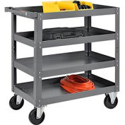 4 Shelf Steel Stock Cart 30 x 18 800 Lb. Capacity