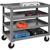 4 Shelf Steel Stock Cart 36 x 24 800 Lb. Capacity