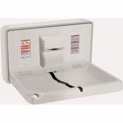 ASI® Horizontal Plastic Baby Changing Station, Light Gray - 9014