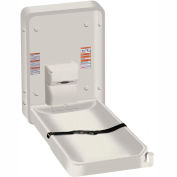 ASI® Vertical Plastic Baby Changing Station, Light Gray - 9015