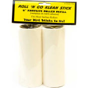 "6"" Adhesive Roller Refill for Roll 'N Go Klean Stick - 30 Sheets/Roll, 12 Rolls/Case - ADR-REFILL-6"