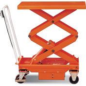 DC Power Hydraulic Double Scissor Lift Cart 1100 Lb. Cap.