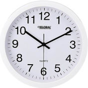 "White Wall Clock – 12"" - Plastic"