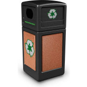 StoneTec® 72231499 Recycle42 Container - Black w/Sedona Panels