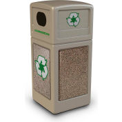 StoneTec® 72231599 Recycle42 Container - Beige w/Riverstone Panels