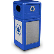 StoneTec® 72233099 Recycle42 Container - Blue w/Ashtone Panels