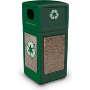 StoneTec® 72235499 Recycle42 Container - Forest Green w/Riverstone Panels