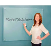 """Global Industrial™ Frosted Glass Dry Erase Board, 48"""" x  36"""""""