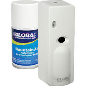 Global™ Automatic Air Freshener Dispenser Starter Kit, 1 Dispenser & 12 Refills - Mountain Air