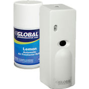 Global Industrial™ Automatic Air Freshener Refills w/ Free Dispenser - 12 Refills, Lemon