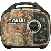 Yamaha EF2000iSHv2, 1600 Watts, Inverter Generator, Gasoline, Recoil Start, 120V, RealTree Camo