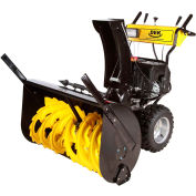 "GXI 36"" DEK Dual Stage Snow Blower, Fully Assembled Black/Yellow - 36SDM15FA"
