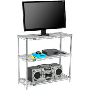 Nexel - 48 x 14 (3) Shelf Media Stand - Chrome