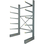 """Global Industrial™ Single Sided HD Cantilever Rack Starter, 72""""W x 50""""D x 10'H, With Lip"""